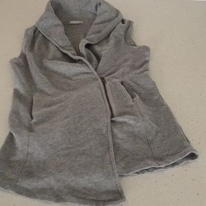 Skin French terry cotton grey vest zip size 2/M